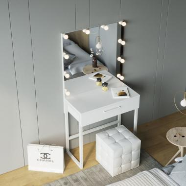 Рабочая станция 1 ящик (туалетный стол+зеркало) Z-Line