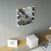 Зеркало настенное с лампочками безрамочное Z-Line